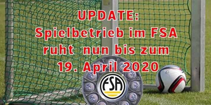 Fußballverband Sachsen-Anhalt (FSA) setzt Spielbetrieb im Verbandsgebiet aus